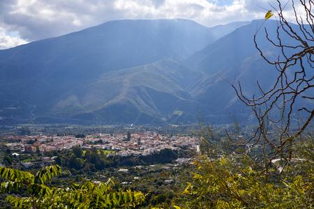 Alpujarras of Granada Orgiva village in andalusia of Spain