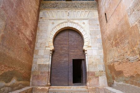 Alhambra Puerta de la Justicia in Granada of Spain Justice Door of Alcazaba