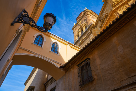 Guadix Cathedral arch in Granada Spain at Andalusia 免版税图像