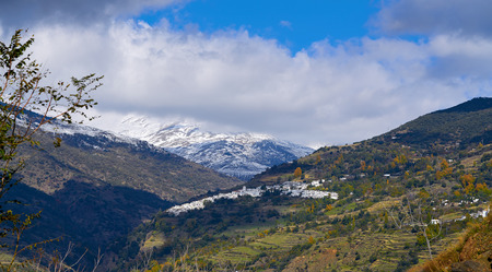 Alpujarras Capileira village en Granada, cerca de Sierra Nevada de España