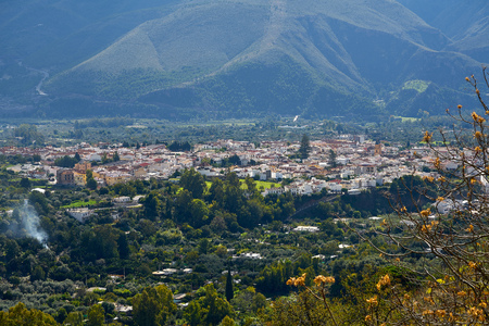 Alpujarras of Granada Orgiva village in andalusia of Spain