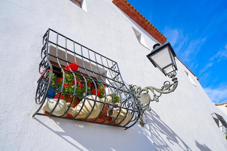Altea white village in Alicante at Mediterranean Spain Stock Photo