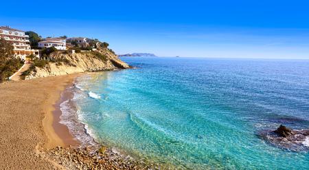 Campello of Alicante Cala Lanuza beach in Spain at Costa Blanca Фото со стока - 115795380
