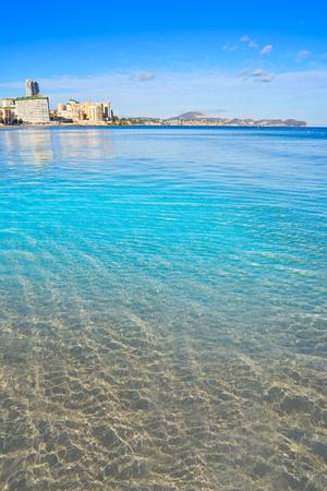 Playa de Fossa beach in Calpe of Alicante in Spain also Levante beach Calp Stock Photo