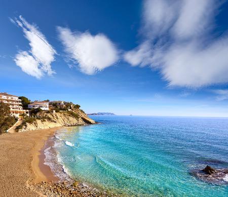 Campello of Alicante Cala Lanuza beach in Spain at Costa Blanca Фото со стока - 115796891