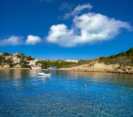 Campello of Alicante Cala Morro Blanc beach in Spain at Costa Blanca Фото со стока - 115797175