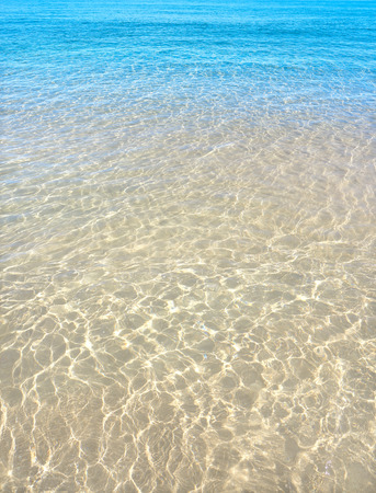 Clear beach water sand in Costa Blanca of Alicante at Spain Mediterranean