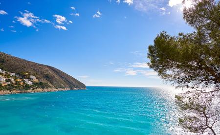 El Portet beach in Moraira of Teulada at Alicante Spain Costa blanca Фото со стока - 115797993