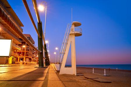 Guardamar del Segura Centre beach in Alicante of Spain at Costa Blanca