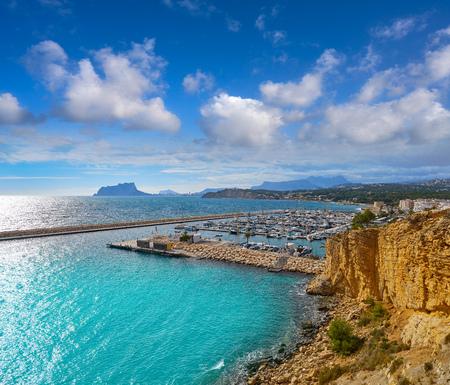 Moraira beach Portitxolet in Alicante at Teulada village of Spain Фото со стока - 115798795