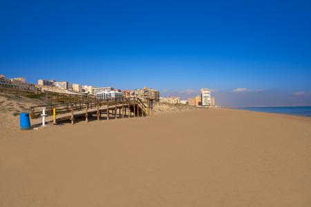 Arenals del Sol Beach in Elche Elx of Alicante in Costa Blanca at Spain
