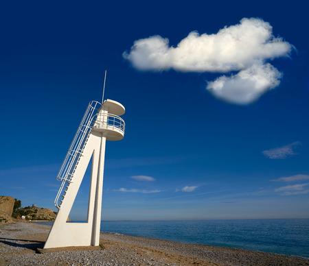 Paradis or Paraiso beach playa in Vila Joiosa of Alicante of Spain also Villajoyosa of Costa Blanca Фото со стока - 115799734