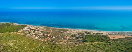 Santa Pola cape aerial in Alicante of Spain at Costa Blanca 免版税图像