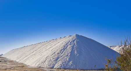 Santa Pola salinas saltworks mountains of salt in Alicante Spain