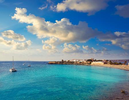 Nova Tabarca beach in Alicante of Spain Фото со стока - 115800386