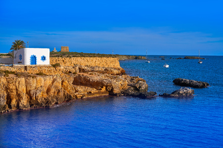 Mediterranean sea in Nova Tabarca of Alicante Spain Stock Photo