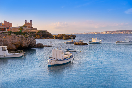 Nova Tabarca island port in Alicante of Spain Stock Photo