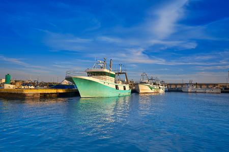 Santa Pola port fisherboats in Alicante of Spain Фото со стока - 115801194