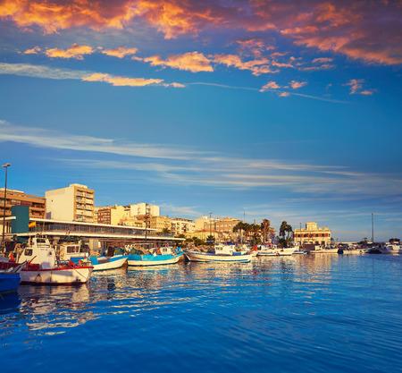 Santa Pola port and skyline in Alicante of Spain Фото со стока - 115801208