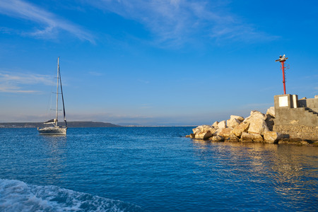 Nova Tabarca island port in Alicante of Spain Фото со стока - 115804419