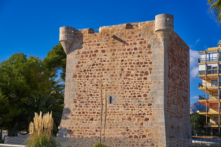 Torre sant Vicent Tower San Vicente in Benicasim also Benicassim of Castellon Spain Stock Photo