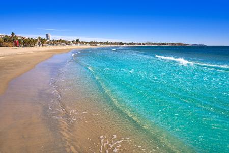 Platja Prat dEn Fores beach in Cambrils Tarragona at Costa Dorada of Catalonia