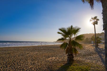 Oropesa de Mar beach La Concha playa in Castellon of Spain Imagens