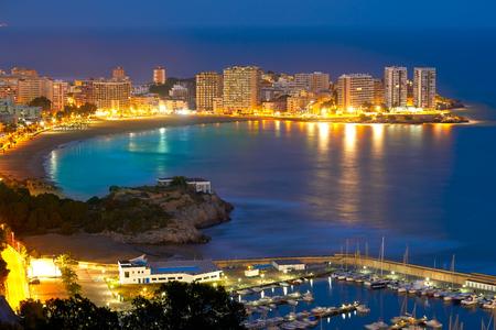 Oropesa de Mar beach La Concha sunset playa in Castellon Spain Imagens