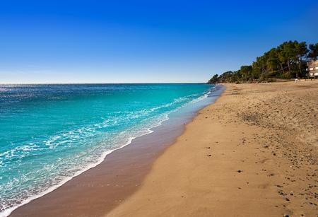 Platja Penyals beach playa in Miami-Platja of Tarragona at Costa Dorada of Catalonia Banco de Imagens