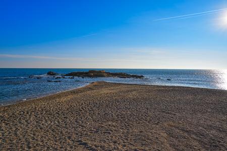 Morro de Gos beach in El Perello of Tarragona at Costa Dorada Catalonia