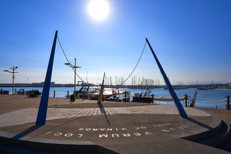 Vinaroz fisherboats port in Castellon of Spain