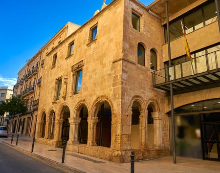 Santa Tecla old hospital facade in Tarragona of Catalonia