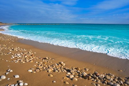 Vinaroz Playa del Forti beach in Castellon of Spain also Vinaros