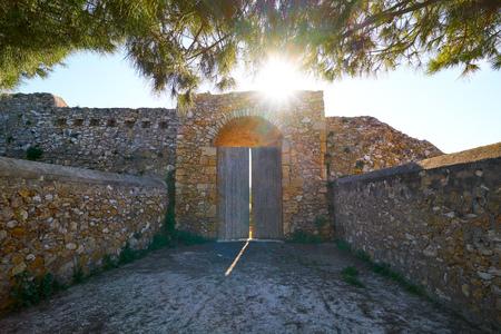 Forti de la Reina in Tarragona at Punta Miracle of Catalonia 版權商用圖片