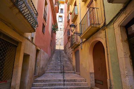 Tarragona narrow streets in Catalonia Spain 版權商用圖片