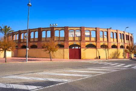 Vinaroz bullring Plaza de Toros in Castellon of Spain 版權商用圖片