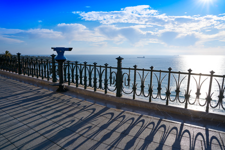 Tarragona Balcony of Europe at sunrise in Catalonia 版權商用圖片