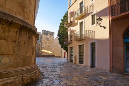 Torre del Pretori tower in Tarragona of Catalonia 版權商用圖片