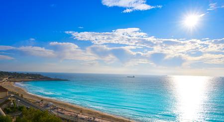 El Miracle beach in Tarragona aerial at Costa Dorada of Catalonia