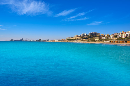 El Miracle beach in Tarragona at Costa Dorada of Catalonia