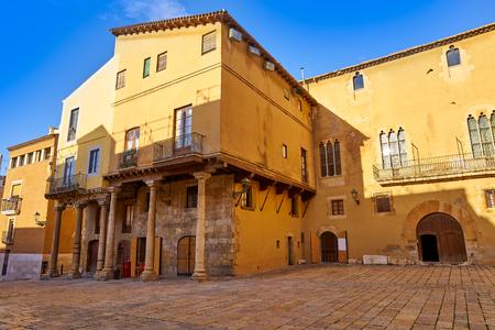 Palau de la Cambreria in Tarragona of Catalonia Spain 스톡 콘텐츠