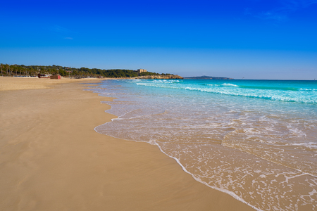 Tarragona Platja de L'Arrabassada in Costa Dorada of Catalonia Reklamní fotografie