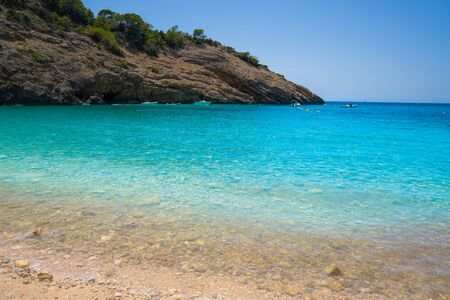 Ibiza Cala Moli beach in Sant Josep of Balearic Islands