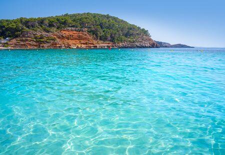 Ibiza Cala Salada and Saladeta in Balearic Islands of spain Фото со стока