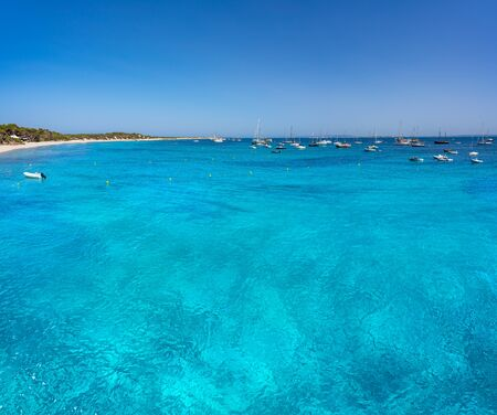 Ibiza Playa Ses Salines beach in Sant Josep of Balearic Islands