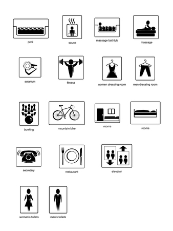 A collection of pictograms - vector illustration Vector