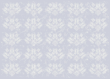 abandoned house: Old wall background with floral patterns