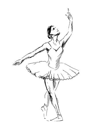 Schizzo di ballerine di danza. Archivio Fotografico - 32055643