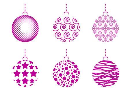 クリスマス ボールのセット  イラスト・ベクター素材