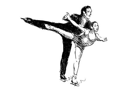 skaters: Hand sketch skaters. Vector illustration